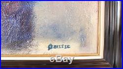 Hst huile sur toile Claude Quiesse peinture tableau les chardons painting