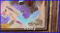 Hst huile sur toile les baigneuses de Klimek peinture tableau