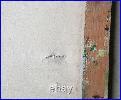 Huile Sur Toile Fleurs Style Abstrait Signée P. W. Format De La Toile 50 X 65