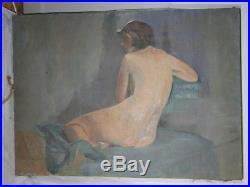 Huile Sur Toile G. Guillot De Raffaillac 1930 Femme Nu (d248)