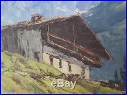 Huile Sur Toile Montagne Mont Blanc Vallee Des Contamines Signee Paul Corbet