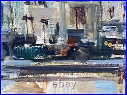 Huile Sur Toile Par J Warner Quai De Seine Peniche M173