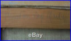Huile Sur Toile Peinture Menton Cap Martin André Hardelin Vers 1950 Dn120