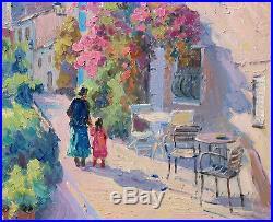 Huile Sur Toile Signee Et Encadree Belle Vue De Grimaud, Provence