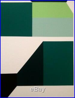 Huile Sur Toile (xx°) Superbe Peinture Abstraction Geometrique (1)