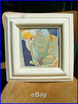 Huile sur Toile Femme Nue par Paul Flickinger 1991