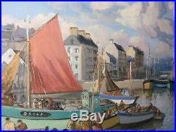 Huile sur toile Douarnenez signée Gaston POTTIER