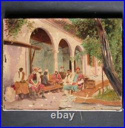 Huile sur toile TABLEAU ORIENTALISTE peinture