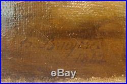 Huile sur toile de Hippolyte BRUYERES de 1842 Saint Jean Baptiste