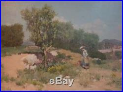 Huile sur toile impressionniste. Impressionist oil Eugène de Barberiis Marseille