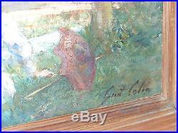 Huile sur toile par Gustave Colin Ciboure pay basques