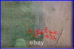 Huile sur toile signée Choi YETAE Nu 39 x 26 cm