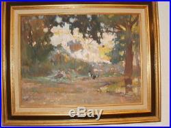 Huile sur toile signée louis agricol montagné, tableau, peinture