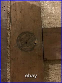Immense HUILE SUR TOILE ANCIENNE Conversation au bord d'un puit 122 x 95 cm
