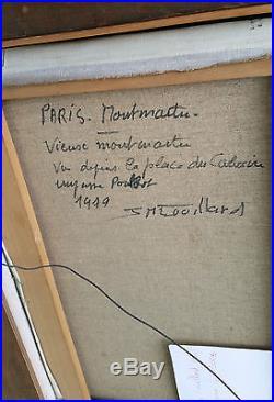 JEAN MARIE COUILLARD Huile sur toile Tableau Paris Vieux MONTMARTRE 1979 art