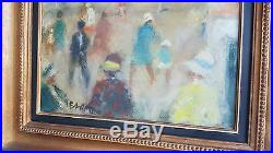 Jacques BARTOLI Tableau HUILE sur Toile HST Rue a TOULON Peinture 54x45 XXe art