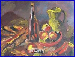 Jacques ENDZEL (1927-2014) HsT 1952 Nle Ecole de Paris Jeune Peinture