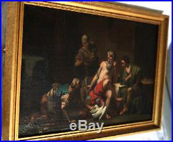 Jean-Bernard Restout Philémon Baucis Zeus Hermès peinture huile toile XVIIIe 18e