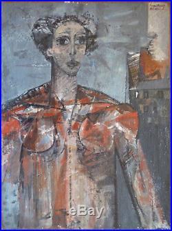 Jean-Claude BÉDARD (1928-1982) HsT 1953/54 Nl Ecole de Paris Jeune Peinture