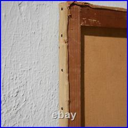 Jean LAFON dit KEULEYAN Gde marine 46x55 cm TOULON Huile Toile Peinture Tableau