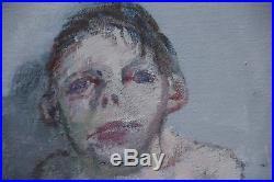 Jean RUSTIN Huile sur toile la jeune fille 2000