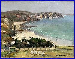 Jim Eugène SEVELLEC (1897-1971) Camaret-sur-Mer plage du Verilhac Bretagne