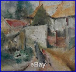 José Palmeiro (Madrid 1903/ Bergerac 1984) Village animé HST Signé, daté