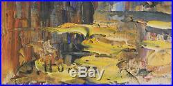 Joseph Hurard. Vue du port de Martigues. Huile sur toile v686