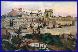 Joseph Meissonnier (1864-1943) Villeneuve-lès-Avignon Huile sur toile