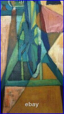 Kjell Lindberg Post Cubiste Suedois Huile Instruments Musique Eleve A Lhote