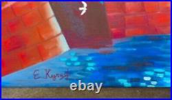 Kouptsov / Peintre Russe/ Oeuvre Originale & Signee / Canal De St-petersbourg