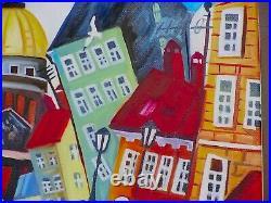 Kouptsov / Peintre Russe / Oeuvre Originale & Signee / Le Pont Des Amoureux