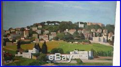 LEROY Camille (1905-1995) orientaliste huile sur toile Ville Afrique du Nord
