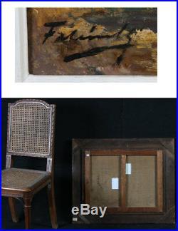 LES MARTIGUES Huile sur toile signée Marcel Falcinelli, Marine