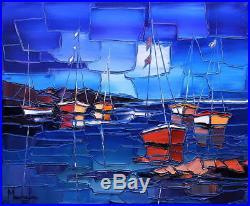 LE GRAND CALME 46X38cm tableau peinture huile oil painting PFLEGER MANDRAFINA