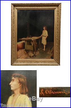 L. Gil Massart  Huile Sur Toile Date 1910