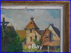 L'alsace Des Peintres- Joseph Brenner Paysage D'horbourg/colmar -1952-