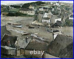 La BRETAGNE. Huile/toile encadrée, signée A. LARCHER (Albert LARCHER 1894-1991)