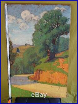 La Corse Des Peintres-puissant Paysage Post-impressionniste Signé-années 1910/20