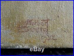 La Partie D'échec- Grande & Belle Peinture Signée Datant De 1932 -à Identifier