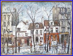 Lacaze Alain huile sur toile signée Place du tertre Montmartre Paris Art
