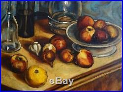 Le Marseille Des Peintres-louis Audibert (1880-1983)-grd Nature Morte Aux Pommes