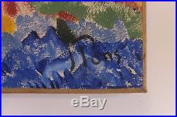 Les Peupliers, huile sur toile de Jean Pons