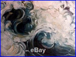Les Vagues Écumantes à Bray-Dunes Juin 1962 Marine Paysage de La Mer du Nord