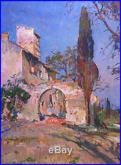 Louis Agricol MONTAGNÉ, Provence, Huile sur toile, postimpressionnisme (v)