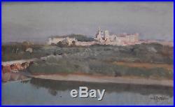 Louis Agricol MONTAGNÉ(montagne) Vue Avignon huile sur toile v27