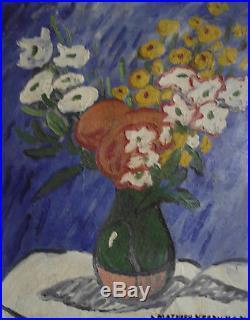 Louis-Mathieu Verdilhan. Bouquet de fleurs Huile sur toile v651