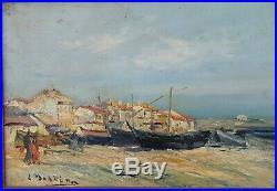 Louis NATTERO (1870-1915) Martigues huile sur toile