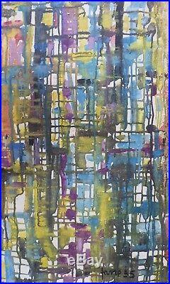 Louis-Paul FAVRE (1922-) HsT de 1955 / Tachisme Tachism Abstaction Abstract