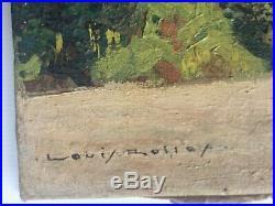 Louis ROLLET (1895-1988) HST Montagne Peintre voyageur Indochine Madagascar